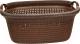 Корзина для белья Эльфпласт Paola EP427 (30л, коричневый) -