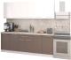 Готовая кухня Кастанье Марта 2.2 (белый глянец/трюфель коричневый) -