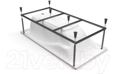 Ванна акриловая Cersanit Zen 170x85 (с каркасом)