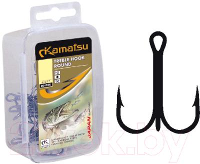 Крючок рыболовный KAMATSU Treble Hook Round K-077 № 14 / 514400314 (20шт)