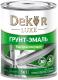 Эмаль Dekor Sprint 3 в 1 быстросохнущая (900г, зеленый) -