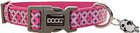 Ошейник DOOG Toto / COLPBS-XS (розовый с узором) -