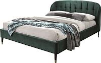 Двуспальная кровать Signal Liguria Velvet 160x200 (зеленый) -