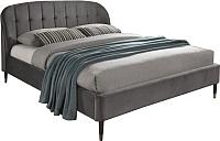 Двуспальная кровать Signal Liguria Velvet 160x200 (серый) -