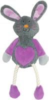 Игрушка для животных Rosewood Кролик Руби / 39016/RW (серый/розовый) -