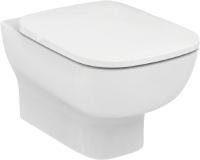 Унитаз подвесной Ideal Standard Esedra AquaBlade T386001+T318101 (с креплением и сиденьем soft-closw) -