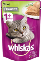 Корм для кошек Whiskas Мясной паштет с уткой (85г) -