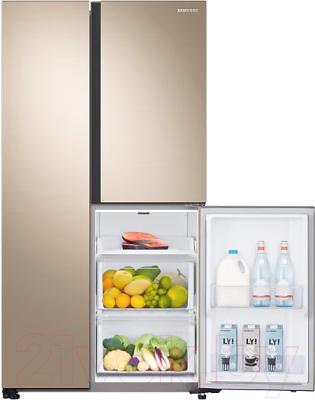 Холодильник с морозильником Samsung RS63R5571F8/WT