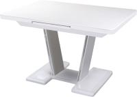 Обеденный стол Домотека Реал ПР-1 80x120-159 (белый/белый/03) -