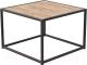 Журнальный столик Millwood Art-2 Л 49x49x49 (дуб табачный Craft/металл черный) -