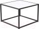 Журнальный столик Millwood Art-3 Л 65x65x49 (дуб белый Craft/металл черный) -