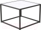 Журнальный столик Millwood Art-3.2 Л 65x65x60 (дуб белый Craft/металл черный) -