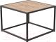 Журнальный столик Millwood Art-3.2 Л 65x65x60 (дуб табачный Craft/металл черный) -