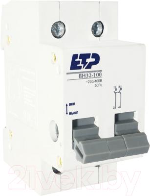 Выключатель нагрузки ETP ВН 32-100 2P 16А / 12316