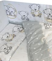 Комплект постельный в кроватку Баю-Бай Ми-ми Мишки / К20-ММ5 (серый) -