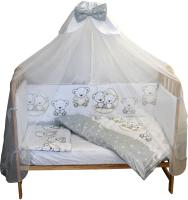 Комплект постельный в кроватку Баю-Бай Ми-ми Мишки / К50-ММ5 (серый) -