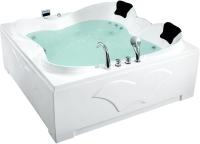 Ванна акриловая Gemy G9089 K R 187x187 (с гидромассажем) -