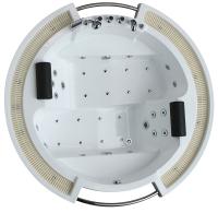 Ванна акриловая Gemy G9060 K 210x210 (с гидромассажем) -