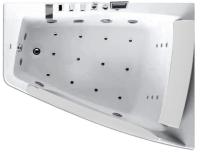 Ванна акриловая Gemy G9056 K R 170x130 (с гидромассажем) -