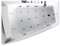 Ванна акриловая Gemy G9056 K L 170x130 (с гидромассажем) -