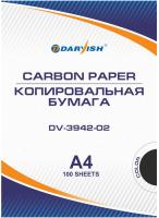 Бумага копировальная Darvish DV-3942-02 (100л, черный) -