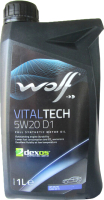 Моторное масло WOLF VitalTech 5W20 D1 / 16114/1 (1л) -