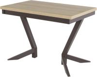 Обеденный стол AMC Classic / 2(1100)21 (коричневый/дуб небраска) -