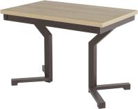 Обеденный стол AMC Premium / 1С(1100)21 (коричневый/дуб небраска) -