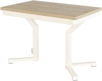 Обеденный стол AMC Premium / 1С(1100)31 (слоновая кость/дуб небраска) -