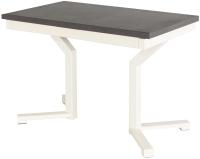 Обеденный стол AMC Premium / 1С(1100)33 (слоновая кость/баменда венге) -