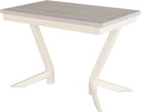 Обеденный стол AMC Premium / 2С(1100)32 (слоновая кость/сосна кастина) -