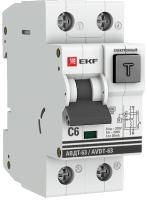 Дифференциальный автомат EKF PROxima АВДТ-63 6А/ 30А / DA63-6-30e -