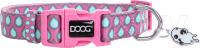 Ошейник DOOG Luna / COLPTD-M (розовый с каплями) -