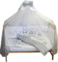 Комплект постельный в кроватку Баю-Бай Ми-ми Мишки / К70-ММ5 (серый) -