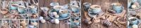 Скиналь Оптион Душевная кухня. Голубой сервиз 4 (МДФ, 2800x600x6) -