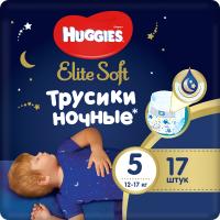 Подгузники-трусики детские Huggies Elite Soft Overnites 5 (17шт) -