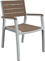 Стул садовый Keter Harmony Armchair 224478 (серый/коричневый) -