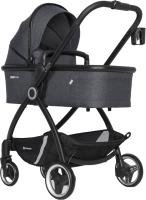 Детская универсальная коляска Euro-Cart Crox 3 в 1 (Coal) -