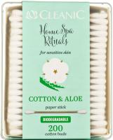 Ватные палочки Cleanic Home SPA Rituals с экстрактом алоэ для чувствительной кожи (200шт) -