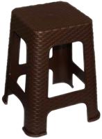 Табурет пластиковый Violet Ротанг / 220201 (коричневый) -