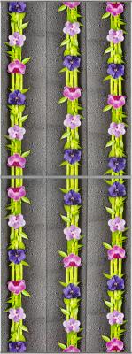 Экран-дверка Comfort Alumin Орхидея 83x200