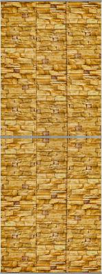 Экран-дверка Comfort Alumin Скалистый камень 83x200