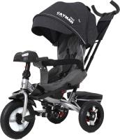 Детский велосипед с ручкой Baby Tilly Cayman T-381 (темно-серый) -
