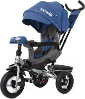 Детский велосипед с ручкой Baby Tilly Cayman T-381 (синий) -