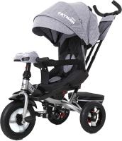 Детский велосипед с ручкой Baby Tilly Cayman T-381 (серый) -