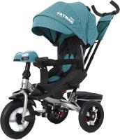Детский велосипед с ручкой Baby Tilly Cayman T-381 (бирюзовый) -