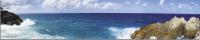 Скиналь Оптион Морской берег. Лазурные волны 3 (стекло, 2800x600x3) -