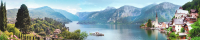 Скиналь Оптион Морской берег. Прекрасная бухта 12 (стекло, 1400x600x3) -