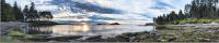 Скиналь Оптион Морской берег. Закат на берегу 5 (МДФ, 2800x600x6) -