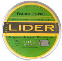 Леска плетеная Fishing Empire Lider Navy Green 0.10мм 100м / 000-110 -
